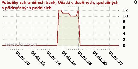 Účasti v dceřiných, společných a přidružených podnicích,Pobočky zahraničních bank