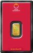 Investi�n� zlato - zlat� slitek 1g Kinebar Austrian Mint