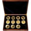 Luxusní sada 11 zlatých mincí 1 Oz Lunární série II. 2008 - 2019