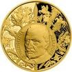 Zlatá uncová medaile Dějiny válečnictví - Bitva u Lützenu 2017 Proof
