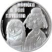 Stříbrná mince 1 NZD Mánička a paní Kateřina 2016 Proof