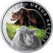 Stříbrná mince 1 NZD Ohrožená příroda - Medvěd hnědý 2016 Proof