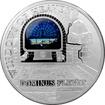 Stříbrná mince Kostel Dominus Flevit Okno nad oltářem 2015 Proof