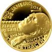 Zlatá čtvrtuncová mince Arnošt Petráček 2016 Proof