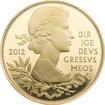 Stříbrná pozlacená mince Diamantové výročí Elizabeth II. 2012 Proof