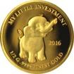 Zlatá mince My little investment  - Slon 2016 Proof