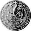 Stříbrná investiční mince The Queen's Beasts Red Dragon 2 Oz 2017