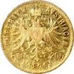 Zlatá mince Osmizlatník Františka Josefa I. 8 Gulden 20 Franků 1876