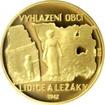 Zlatá čtvrtuncová mince Lidice a Ležáky 2017 Proof