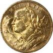 Zlatá mince 20 Frank Helvetia - Vreneli 1930