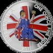 Stříbrná mince kolorovaná Britannia 1 Oz Proof