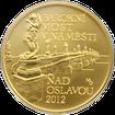 Zlatá mince 5000 Kč Barokní most v Náměšti nad Oslavou 2012 Standard