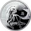 Stříbrná investiční mince Rok Koně Lunární The Royal Mint 1 Oz 2014