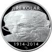 Stříbrná mince 500 Kč Jiří Kolář 100. výročí narození 2014 Proof
