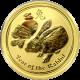Zlatá investiční mince Year of the Rabbit Rok Králíka Lunární 1/2 Oz 2011