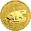 Zlatá investiční mince Year of the Ox Rok Buvola Lunární 1/4 Oz 2009