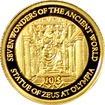Zlatá mince Feidiův Zeus v Olympii Miniatura 2009 Proof