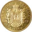 Zlatá mince 100 Frank Napoleon III. 1858