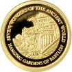 Zlatá mince Visuté zahrady babylónské Miniatura 2009 Proof