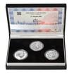 17. LISTOPAD 1989 – návrhy mince 200,-Kč - sada tří Ag medailí 1 Oz Pr