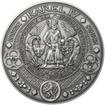 Nejkrásnější medailon II. Královská pečeť - 1 kg Ag patina