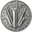 Adolphe Sax - 200. výročí narození stříbro patina