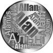 Česká jména - Alan - velká stříbrná medaile 1 Oz