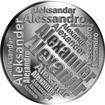 Česká jména - Alexandr - velká stříbrná medaile 1 Oz