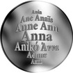 Česká jména - Anna - velká stříbrná medaile 1 Oz