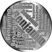 Česká jména - Benjamín - velká stříbrná medaile 1 Oz
