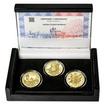 ZALOŽENÍ ČESKÝCH BUDĚJOVIC – návrhy mince 200,-Kč - sada tří zlatých m