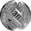 Česká jména - Dana - velká stříbrná medaile 1 Oz