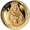 Sada zlatého dukátu a stříbrného odražku Korunovace Jiřího z Poděbrad