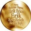 Česká jména - Erik - zlatá medaile