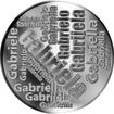 Česká jména - Gabriela - velká stříbrná medaile 1 Oz