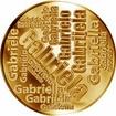 Česká jména - Gabriela - velká zlatá medaile 1 Oz