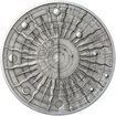 Galileo Galilei - 450. výročí narození stříbro patina