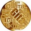 Česká jména - Gita - velká zlatá medaile 1 Oz