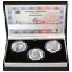 BOHUMIL HRABAL – návrhy mince 200,-Kč - sada tří stříbrných medailí 1