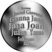 Česká jména - Jana - velká stříbrná medaile 1 Oz