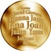 Česká jména - Jana - velká zlatá medaile 1 Oz