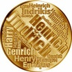 Česká jména - Jindřich - velká zlatá medaile 1 Oz