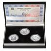 KAMIL LHOTÁK – návrhy mince 200,-Kč - sada tří Ag medailí 34mm b.k.