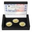 ZALOŽENÍ KLÁŠTERU ZLATÁ KORUNA – návrhy mince 200,-Kč - sada tří zlatý