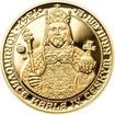 Sada zlatého dukátu a stříbrného odražku Korunovace Karla IV. - proof