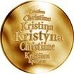 Česká jména - Kristýna - zlatá medaile