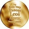 Česká jména - Leoš - velká zlatá medaile 1 Oz