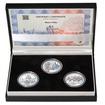MOST V PÍSKU – návrhy mince 5000,-Kč sada tří Ag medailí 28 mm b.k.