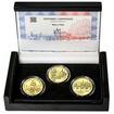 MOST V PÍSKU – návrhy mince 5000,-Kč sada tří Au medailí 1/2 Oz b.k.