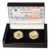 Nitrianske knieža Pribina - návrhy mince 100 € sada Au medailí 1 Oz b.